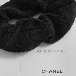 CHANELFleece Hairband Plush Skincare CC Headband